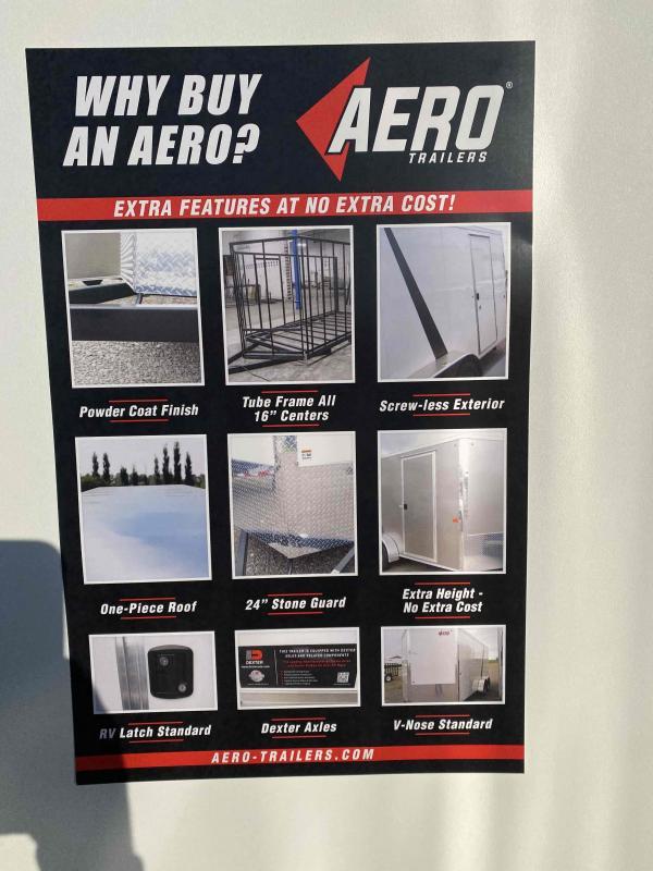 2022 AERO 7.5X16TA35 UTV SILVER Enclosed Cargo Trailer