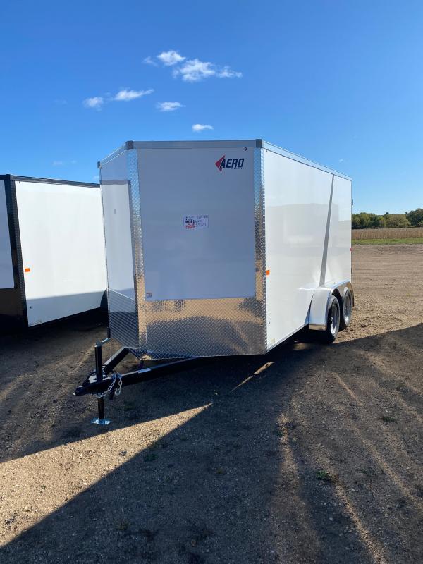 2021 AERO 7X14TA35 WHITE Enclosed Cargo Trailer