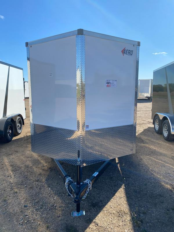 2021 AERO 7X14TA35 WHITE Enclosed Cargo Trailer