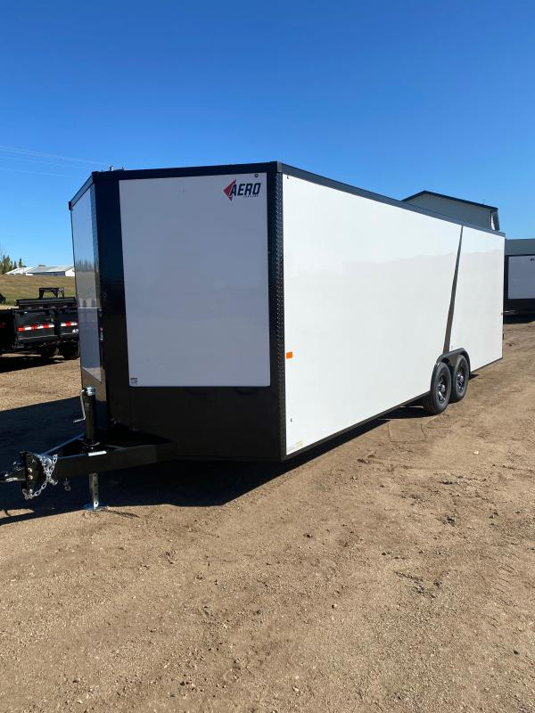 2021 AERO 8.5X24TA52 WHITE BLKOUT Enclosed Cargo Trailer
