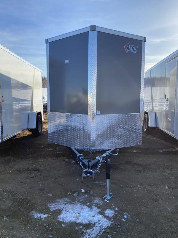 2021 AERO 6X12SA CHARCOAL Enclosed Cargo Trailer