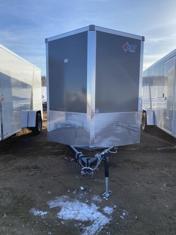 2021 AERO 6X12SA CHARCOAL Enclosed Cargo Trailer