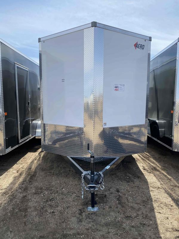 2021 AERO 7.5X16TA35 UTV WHITE Enclosed Cargo Trailer