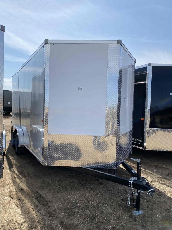 2021 AERO 7.5X16TA35 UTV WHITE Enclosed Cargo Trailer