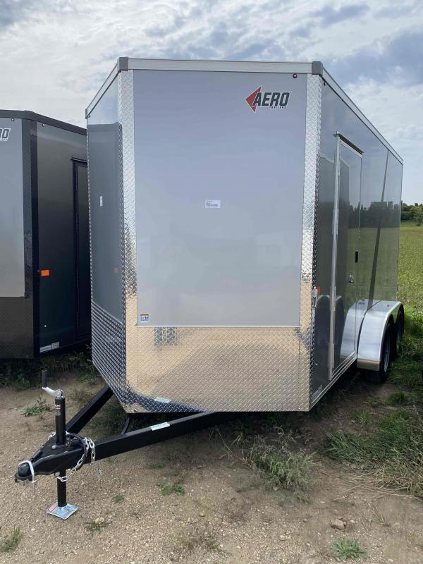 2022 AERO 7X14UTV TA35 SILVER Enclosed Cargo Trailer