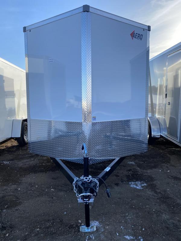 2021 AERO 7X12SA WHITE Enclosed Cargo Trailer