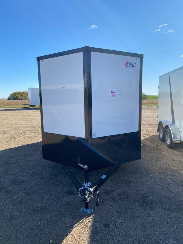 2021 AERO 7X14TA35 WHITE BLKOUT Enclosed Cargo Trailer