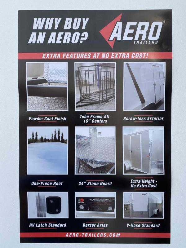 2021 AERO 7X18TA35 SILVER Enclosed Cargo Trailer