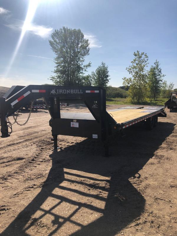 2021 IRON BULL 102X25 DECK-OVER GOOSENECK Equipment Trailer