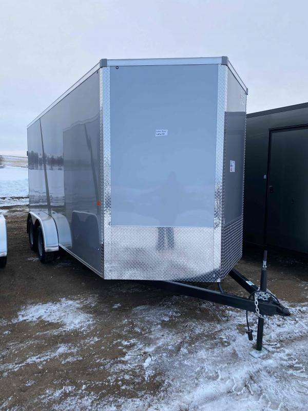 2021 AERO 7X16TA35 SILVER UTV Enclosed Cargo Trailer