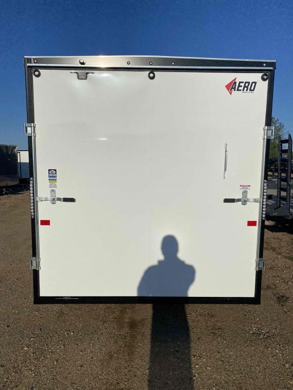 2022 AERO 7.5X16TA35 UTV WHITE Enclosed Cargo Trailer