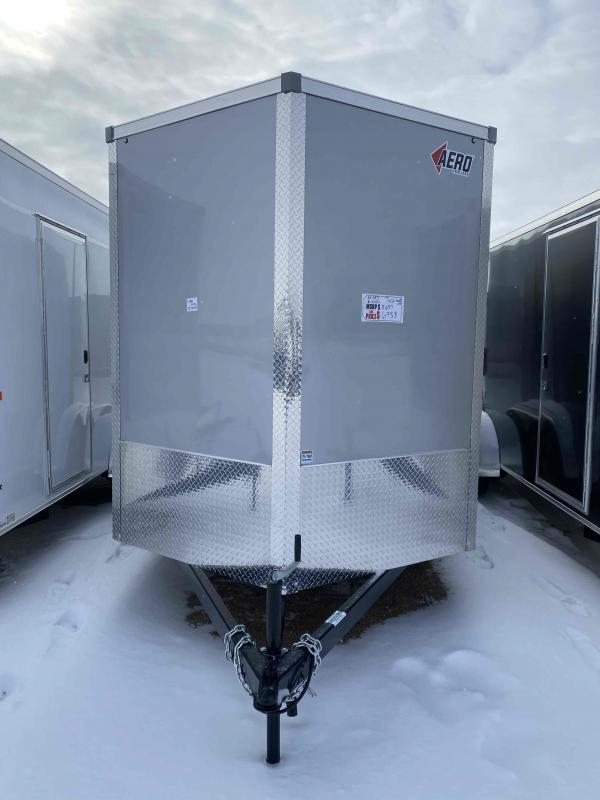 2021 AERO 7X16TA35 UTV SILVER Enclosed Cargo Trailer