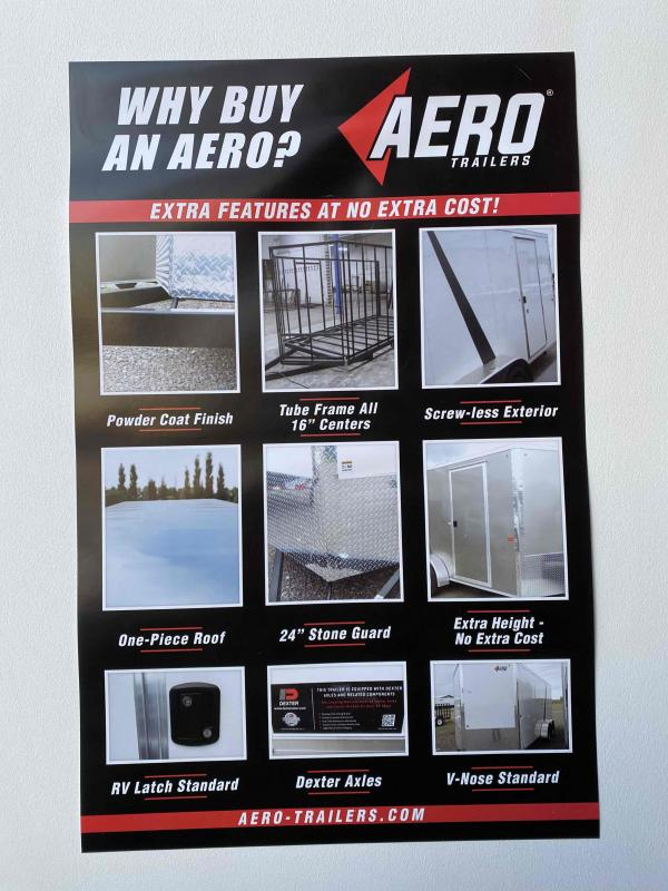 2021 AERO 7X14TA35 UTV BLK/ BLACKOUT Enclosed Cargo Trailer