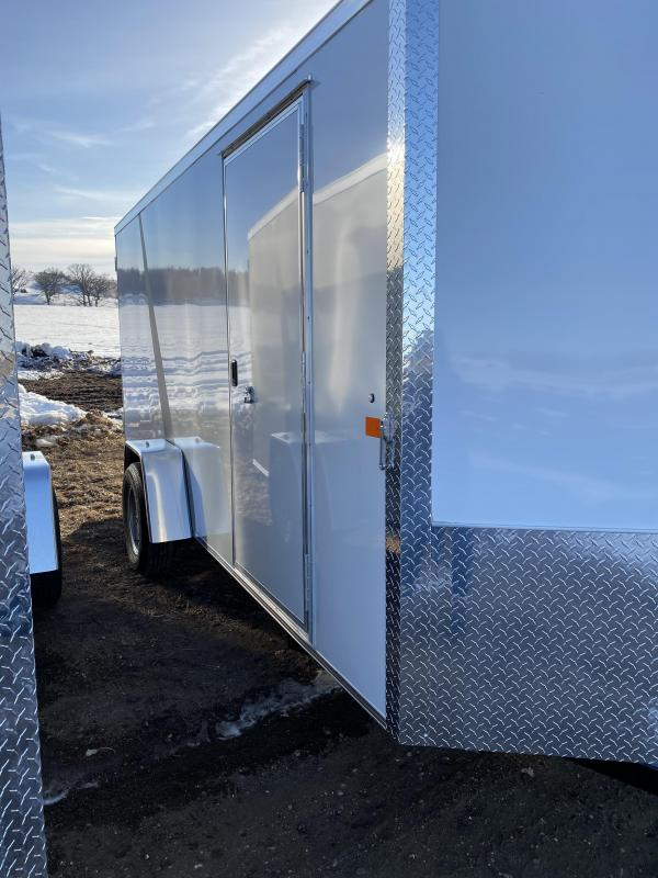 2021 AERO 6X14SA WHITE Enclosed Cargo Trailer