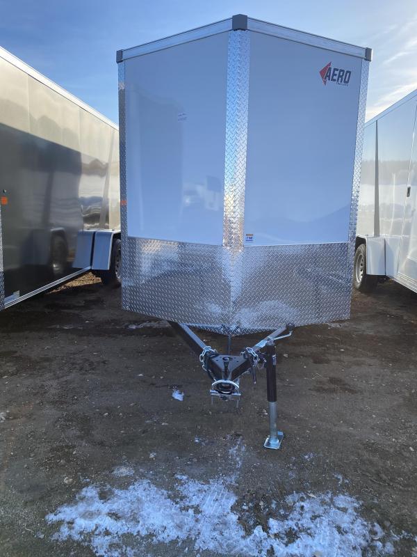 2021 AERO 6X14SA WHITE Enclosed Cargo Trailer
