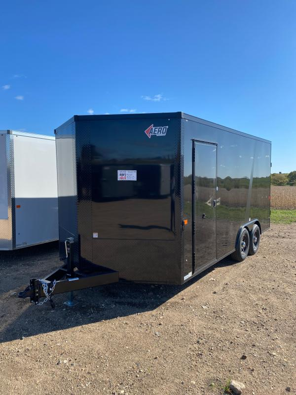 2021 AERO 8.5X16TA52 BLACK/BLKOUT Enclosed Cargo Trailer