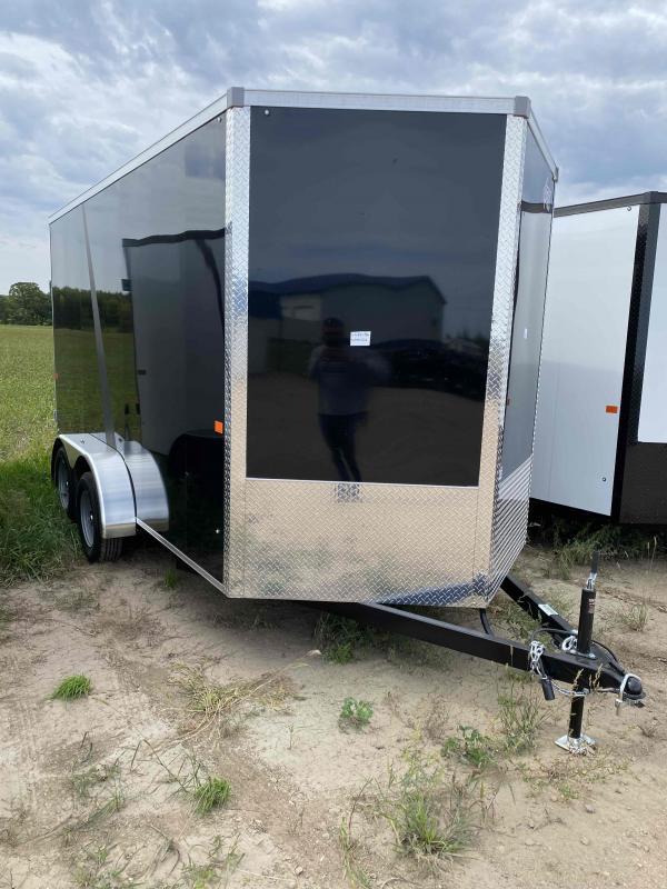 2022 AERO 7X14UTV TA35 BLACK Enclosed Cargo Trailer