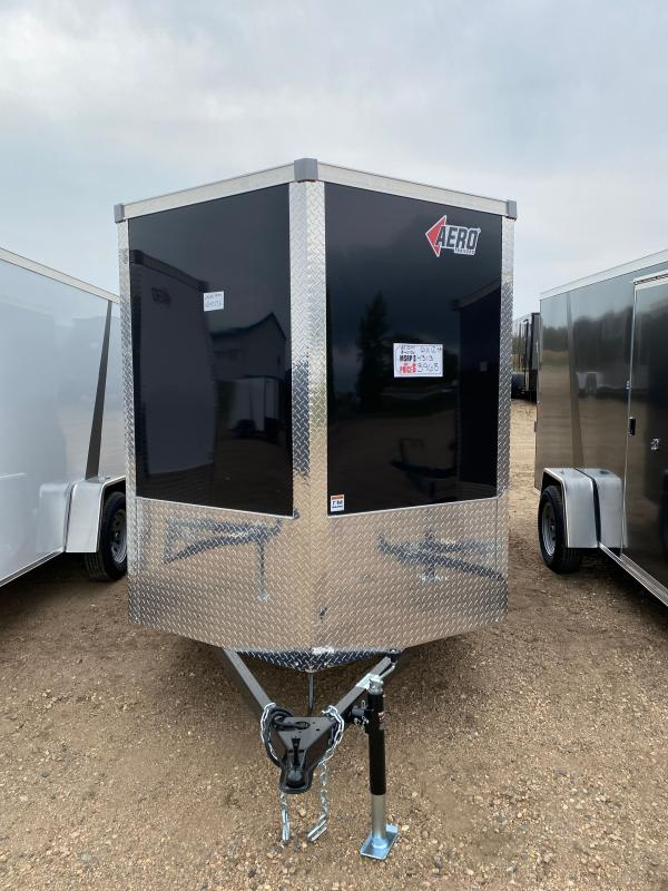 2021 AERO 6X12 SA BLACK Enclosed Cargo Trailer