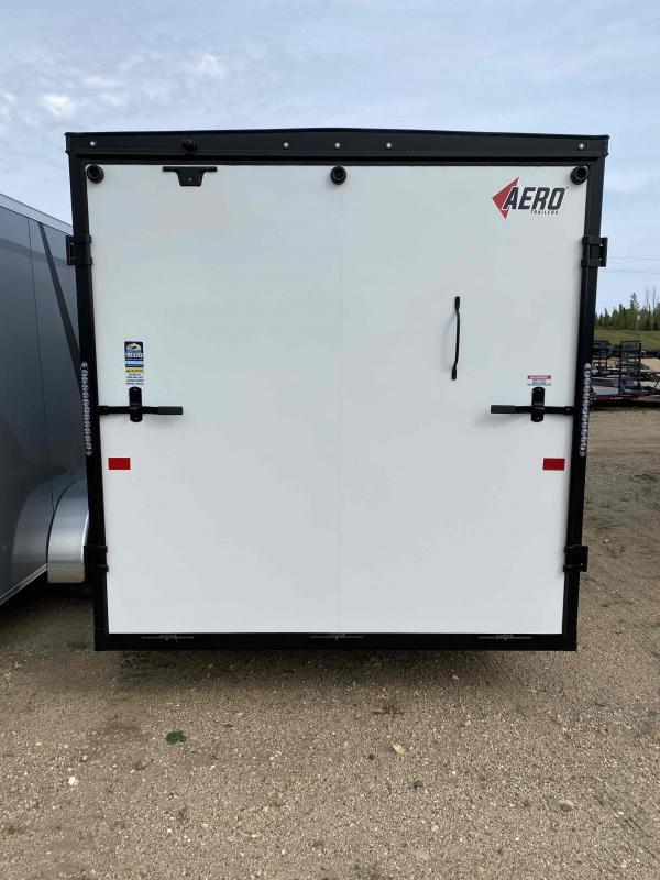 2022 AERO 7X16 TA35 WHITE BLACKOUT W/ALUMINUM RIMS Enclosed Cargo Trailer
