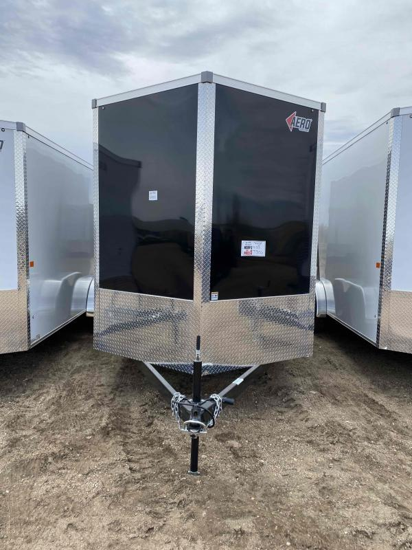 2021 AERO 7X16TA35 UTV BLACK Enclosed Cargo Trailer