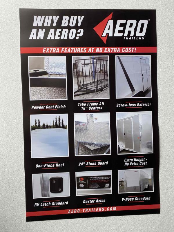 2021 AERO 7X16TA35 UTV BLACK Enclosed Cargo Trailer