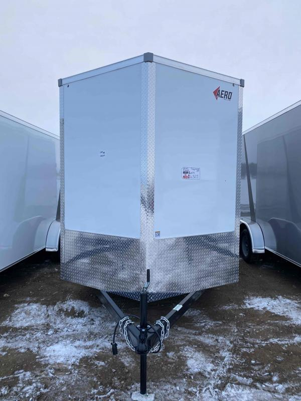 2021 AERO 7X16TA35 WHITE UTV Enclosed Cargo Trailer