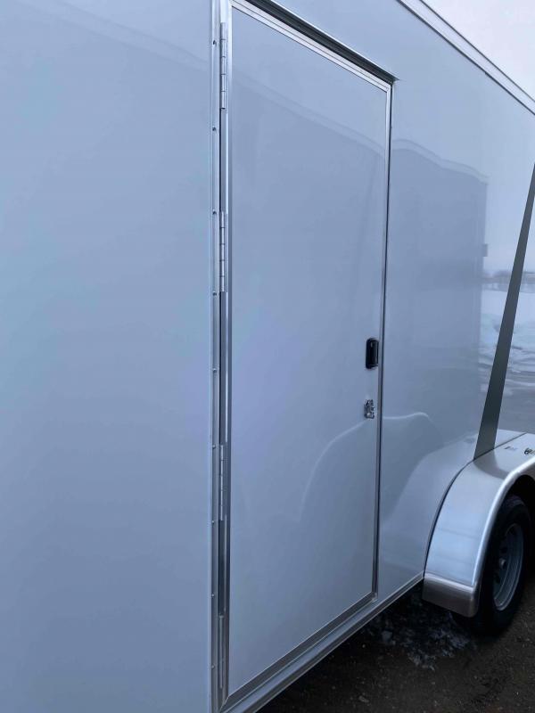 2021 AERO 7X16TA35 WHITE UTV Enclosed Cargo Trailer