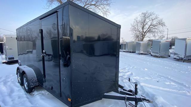 7 X 14  Enclosed Cargo Trailer (Black Out Pkg)