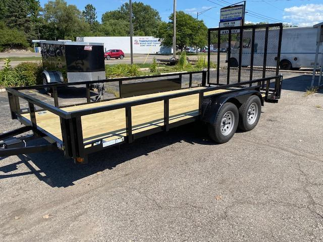 "82"" X 16 Tandem Axle Open Utility Trailer"