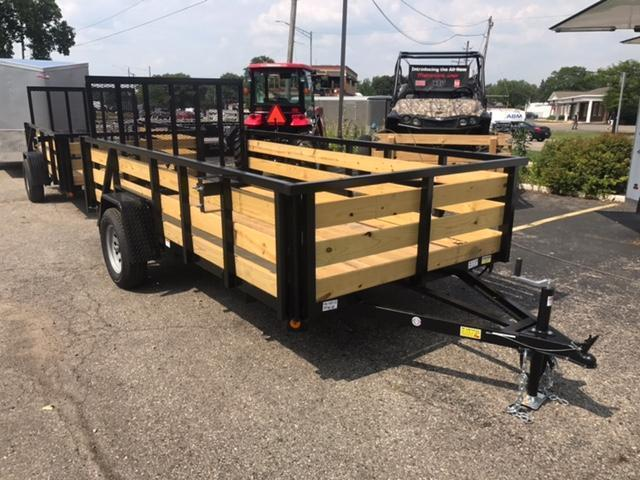 "74"" X 12' Single Axle Open Utility Trailer"