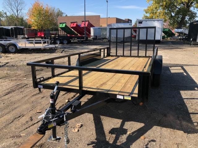 "82"" X 16' Tandem Axle Open Utility Trailer"