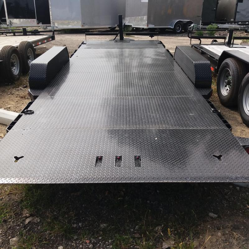 83 X 20 IRON BULL Tilt Low Pro Equipment Trailer