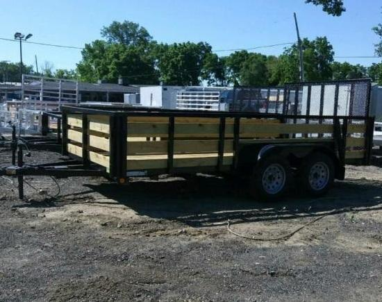 "74"" X 12' Tandem Axle Open Utility Trailer"
