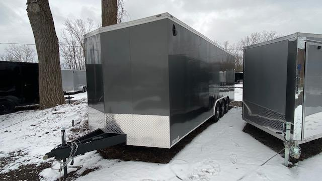 8.5 x 24 Tri Axle Enclosed Trailer