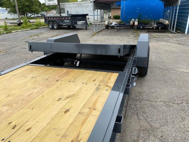 22' Gravity Tilt Equipment Trailer 14K