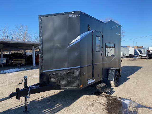 6.5' X 14' Enclosed ATV Trailer - Black Out