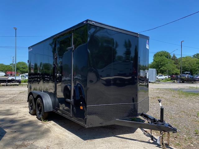 7' X 14' Tandem Axle Enclosed Trailer - Blackout Pkg