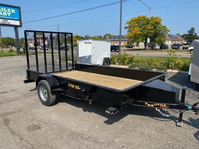 77 X 12  Single Axle Utility Trailer