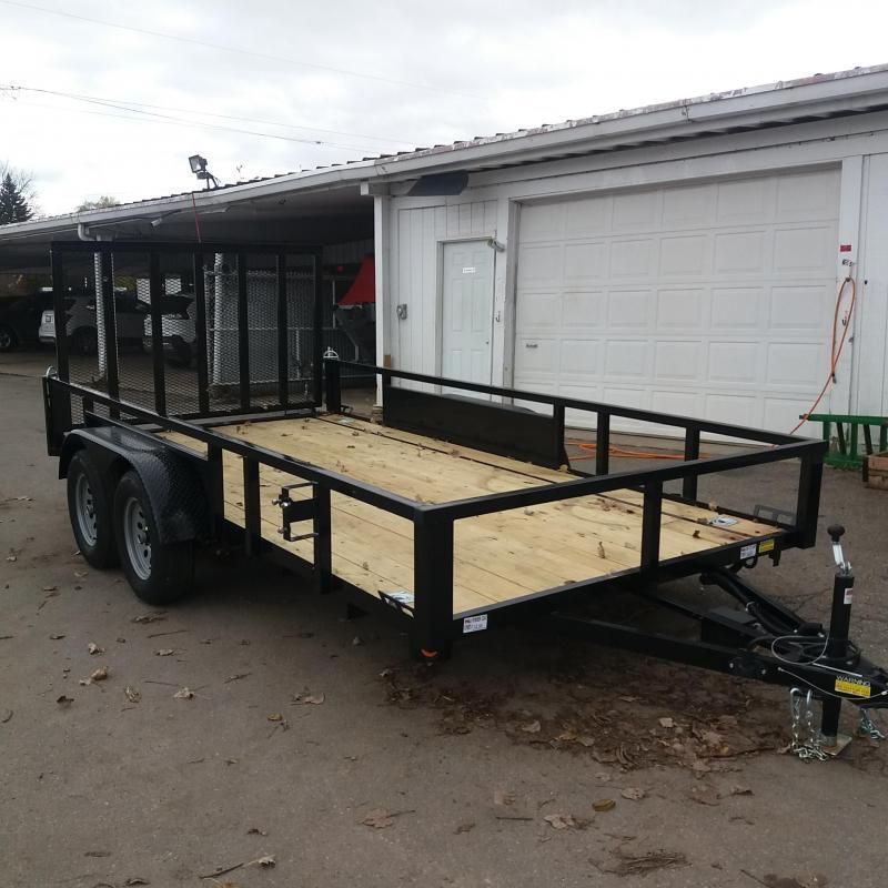 "82"" X 14' Tandem Axle Open Utility Trailer"
