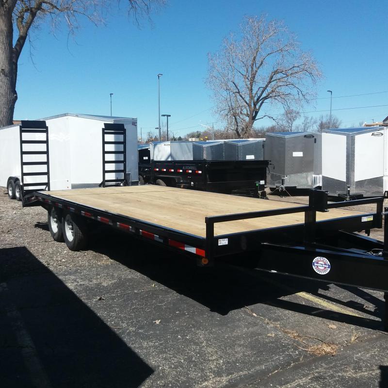 """102"""" X 24'+4' Deckover Equipment Hauler Trailer 14K"""