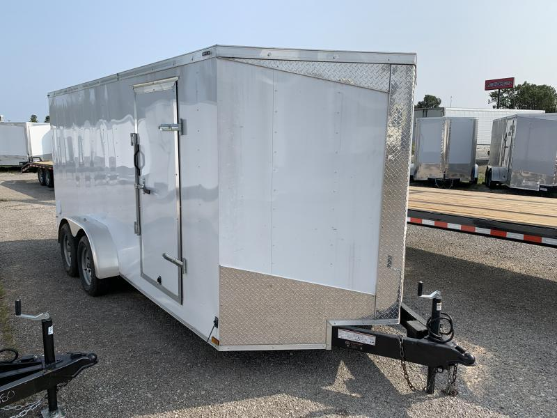 2021 Lark 7' x 16' Enclosed V Nose Cargo Trailer Double Door