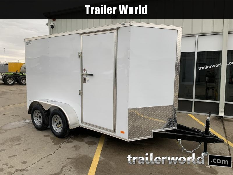 2021 CW 6' x 12' x 6.6' Vnose Tandem Enclosed Trailer