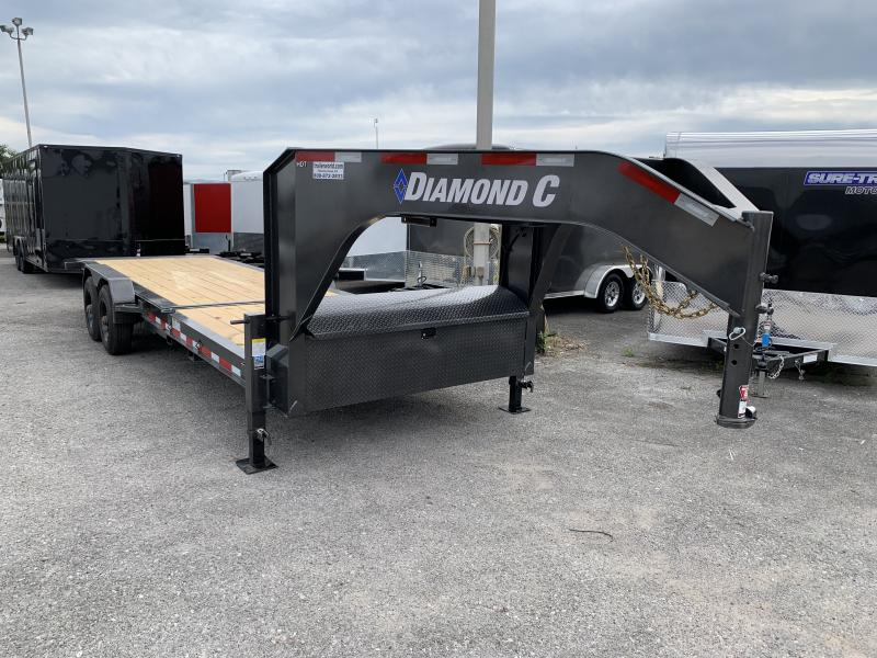 2021 Diamond C HDT Gooseneck 24' w/ 16' Tilt-Bed Equipment Trailer 10 Ton