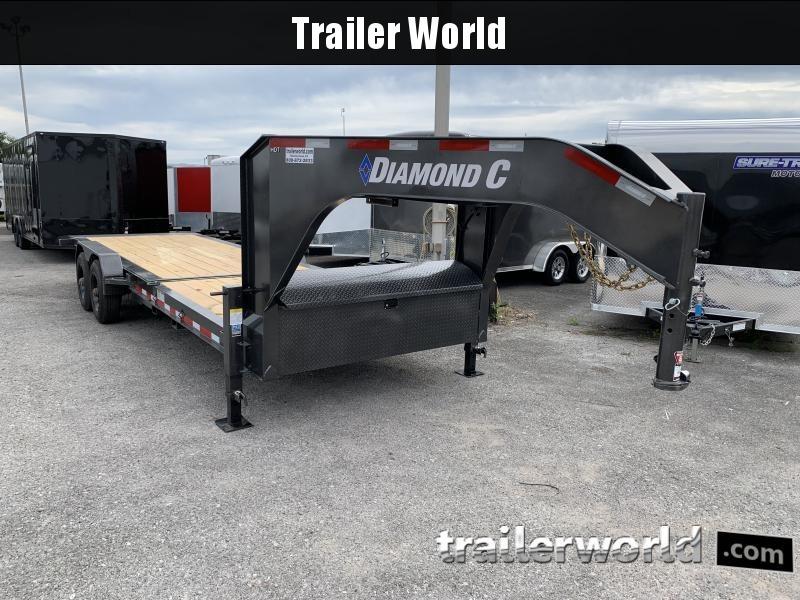 2021 Diamond C HDT Gooseneck 24' w/ 16' Tilt-Bed Equipment Trailer 10 Ton