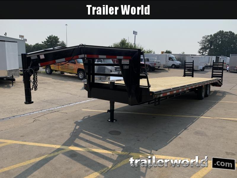 2021 Better Built 25' + 5'  7 Ton Gooseneck Flatbed Trailer