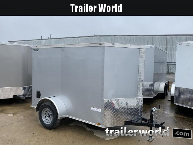 2020 AT 5' x 8' x 5.5' V nose Enclosed Cargo Trailer
