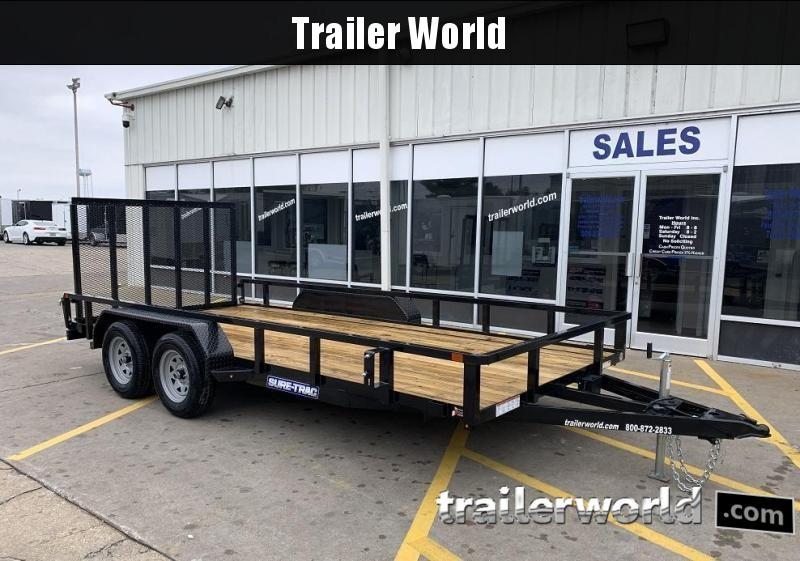 2022 Sure-Trac 7 X 16' Tube Top Utility Trailer  7K Tandem