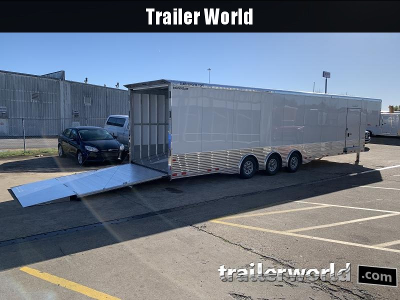 2021 Sundowner 44' Enclosed 2 Car Ramp Over Car Trailer
