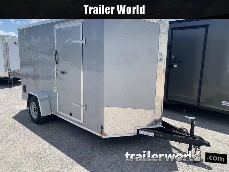 2020 Lark 6' x 12' x 7' Vnose Ramp Door Trailer