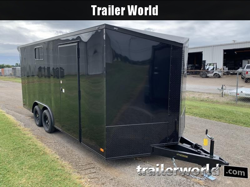 2021 CW 8.5' x 18' x 7' Tall Vnose Enclosed Cargo Trailer Camper Prep Pkg